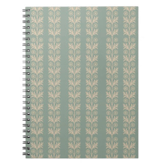 Pewter Arts and Crafts Floral Stripe Notebook