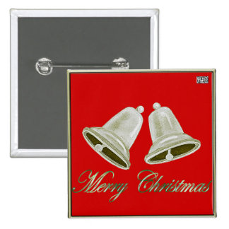 Pewter Bells Christmas Button