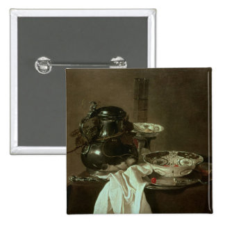 Pewter, China and Glass, 1649 2 Inch Square Button