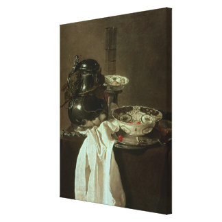 Pewter, China and Glass, 1649 Canvas Print