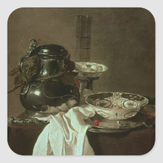 Pewter, China and Glass, 1649 Square Sticker