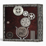 Pewter Cogs and Gears Steampunk Binder