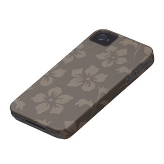 Pewter grey flowers stylish iphone 4 casemate iPhone 4 Case-Mate cases