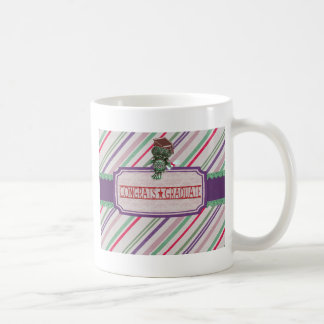 Pewter Look Owl Perched on Tags, Congrats Graduate Coffee Mug