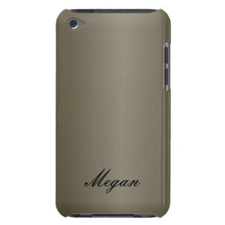 Pewter Metal with Name IPod Touch Case Cover