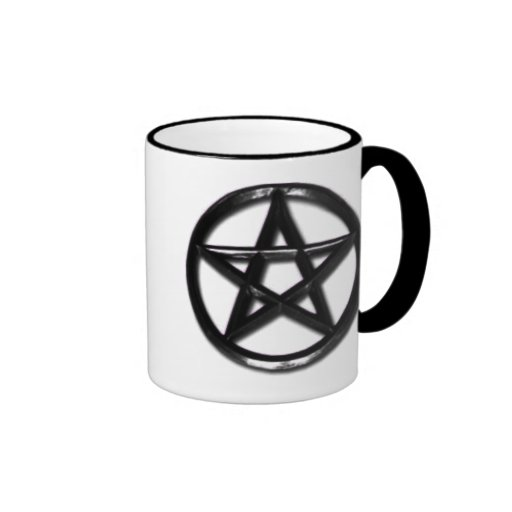 Pewter Pentacle pagan mug