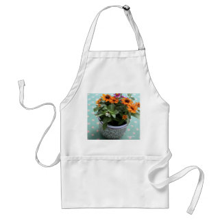 Pewter Pot Coneflowers Apron