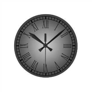 Pewter Roman Numeral Clock