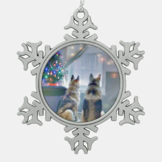 Pewter Snowflake Ornaments at Zazzle