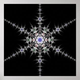 Pewter Snowflake Posters