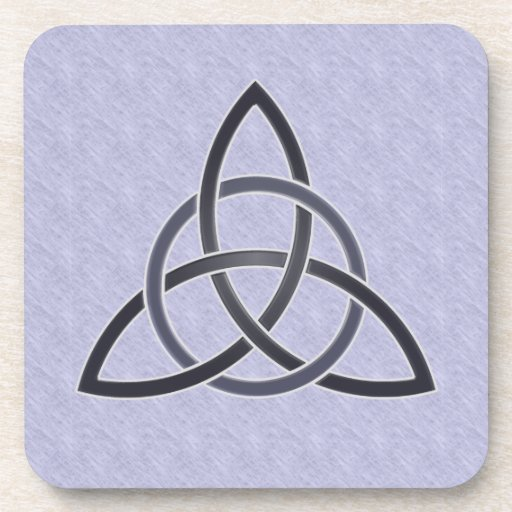 Pewter Trinity Knot Cork Coasters