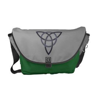 Pewter Trinity Knot Messenger Bag
