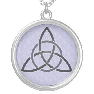 Pewter Trinity Knot Necklace