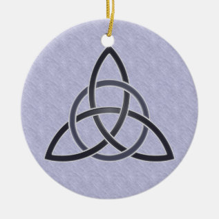Pewter Trinity Knot Ornament at Zazzle