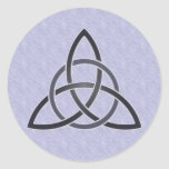Pewter Trinity Knot Stickers