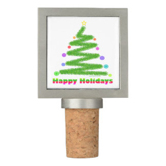 PEWTER WINE STOPPER - CHRISTMAS TREE