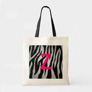 Pewter Zebra Budget Tote Bag
