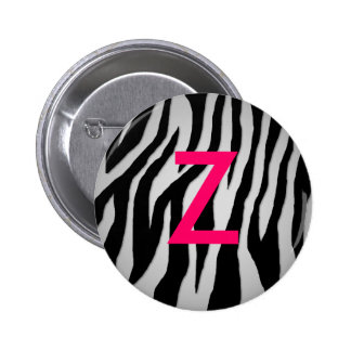 Pewter Zebra Button