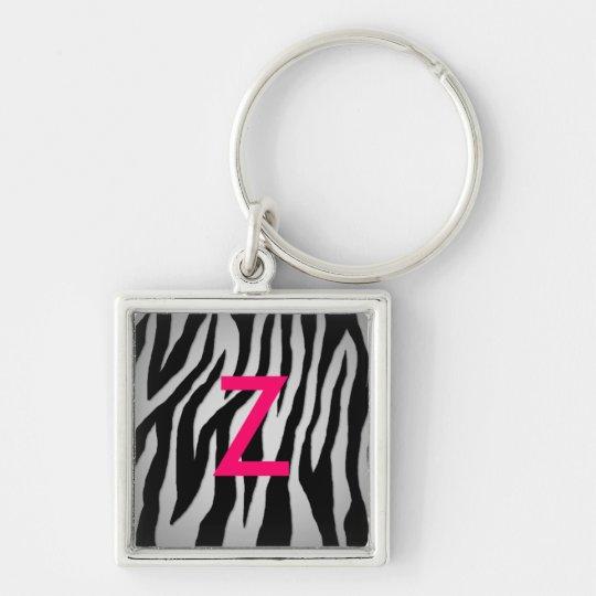 Pewter Zebra Keychain