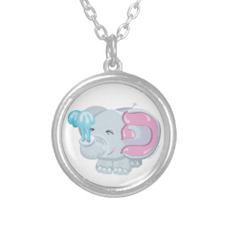 Pey the Elephant, Hebrew Aleph Bet (Alphabet) Silver Plated Necklace