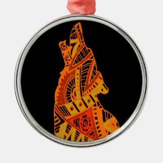 Peyote Coyote Tucson Arizona Metal Ornament