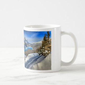 Peyto Lake Winter Panorama Coffee Mug