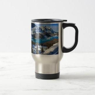 Peyto Lake Winter Panorama Travel Mug