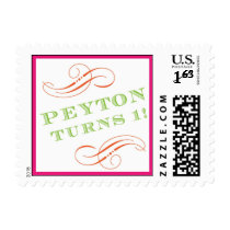 Peyton First Birthday stamp