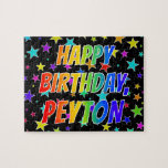 "[ Thumbnail: ""Peyton"" First Name, Fun ""Happy Birthday"" Jigsaw Puzzle ]"