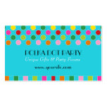Peyton Polka Dot Multi-Colored Chic Business Card