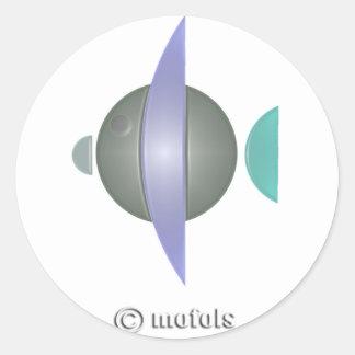 Pez azul classic round sticker