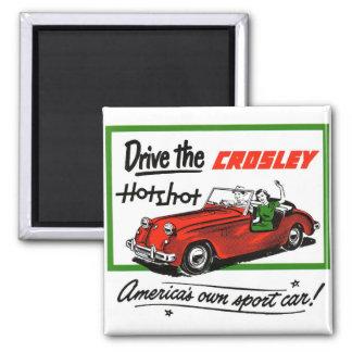 Pez gordo auto de Crosley del coche retro del kits Imán Cuadrado
