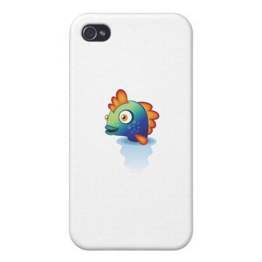 Pez papagayo del arco iris - mi parque de la prote iPhone 4/4S fundas