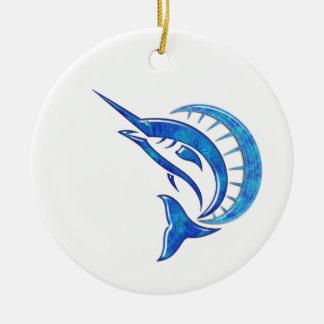Pez volador azul tropical ornatos