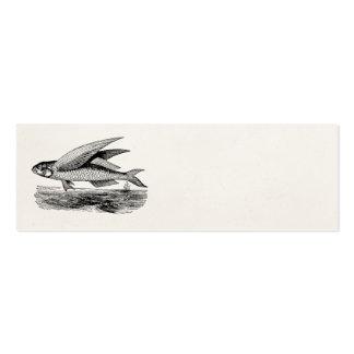 Pez volador del vintage - plantilla acuática de plantillas de tarjetas personales