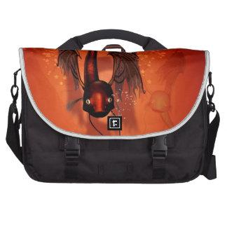 Pez volador divertido bolsas para portátil