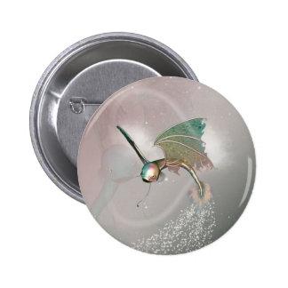 Pez volador divertido pin