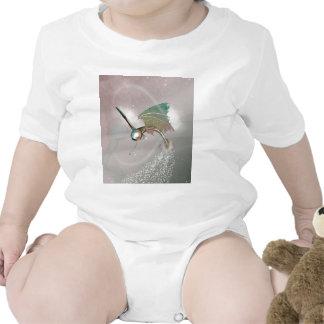 Pez volador divertido traje de bebé