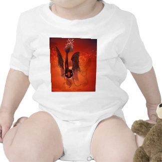 Pez volador divertido trajes de bebé