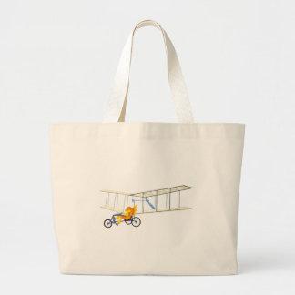 Pez volador enrrollado bolsa de tela grande