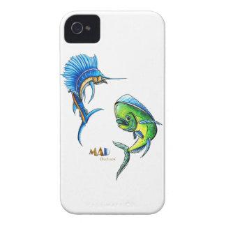 Pez volador y delfín Phonecase iPhone 4 Fundas