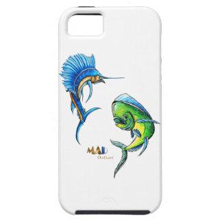 Pez volador y delfín Phonecase iPhone 5 Carcasas