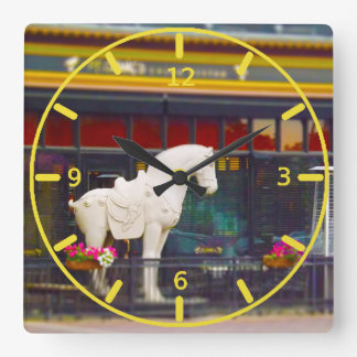 PF Chang's Chinese T'ang Horse Country Club Plaza Square Wall Clock