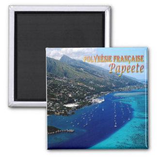 PF - French Polynesia - Papeete - Marina Taina 2 Inch Square Magnet