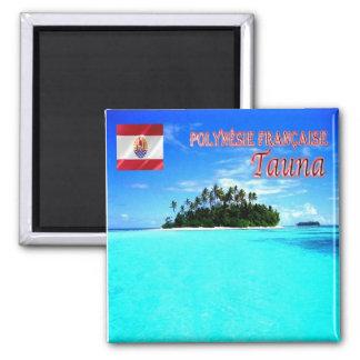 PF - Polinesia francesa - Tauna Imán Cuadrado