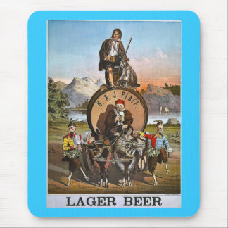 Pfaff Lager Beer - Vintage Ad 1800s Mouse Pad