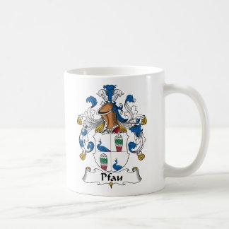 Pfau Family Crest Mug