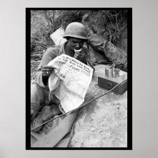 Pfc. Clarence Whitmore, voice radio_War Image Poster