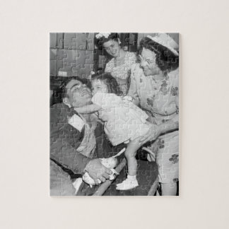 Pfc. Lee Harper, who was wounded_War Image Jigsaw Puzzle