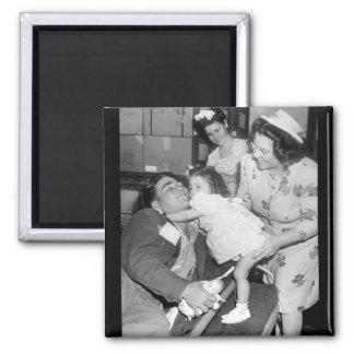 Pfc. Lee Harper, who was wounded_War Image Magnet